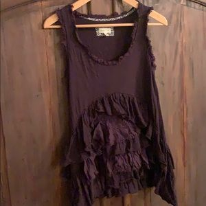 Meadow Rue Petticoat Black Tank Top Small